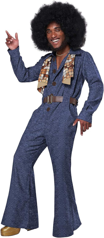 70s Costumes: Disco Costumes, Hippie Outfits Mens 70S Denim Jumpsuit Adult Halloween Costume  AT vintagedancer.com