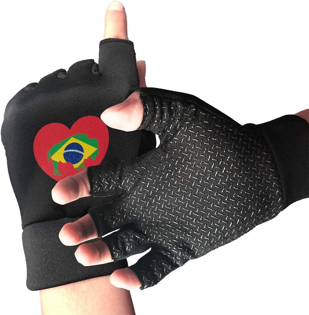 Women Men Buffalo Love Brazil Arthrit Gloves Flag Milwaukee Mall Max 79% OFF Fingerless for