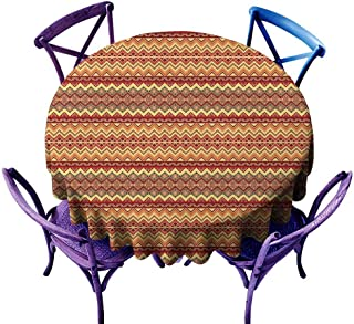 familytaste Native American,Tabletop Decoration Round Tablecloth D 70