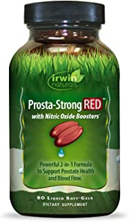 Irwin Naturals Prosta-Strong RED with Nitric Oxide Boosters - Prostate Health Support - Saw Palmetto, Lycopene, Pumpkin Se...
