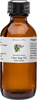 Clary Sage Essential Oil - 2 fl oz -100% Pure and Natural - Therapeutic Grade - Grandma's Home