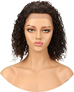 Peruvian Lace Front Human Hair Wigs 8 Colors Real Wet And Wavy Human Hair Wig Wet Wavy Short Wigs #2#4 F1B/99J P4/30,Lace Front,12Inches,#18