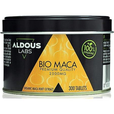 Estratto Biologico di Maca Andina Premium per 9 mesi | Altamente Concentrato 10: 1 | Aumenta l'Energia e la Vitalità | Senza Plastica | Certificazione Ecologica Ufficiale (1 x 300 Compresse)