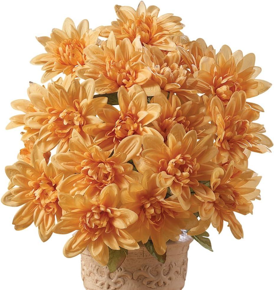Collections Etc. Artificial Chrysanthemums OFFicial shop Colo Cheap sale Low-Maintenance