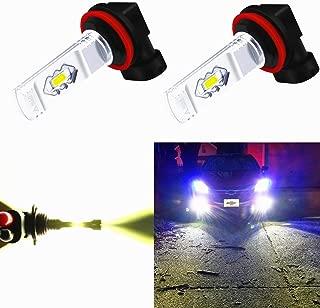 Alla Lighting 3800lm Xtreme Super Bright H11 LED Bulbs Fog Light High Illumination ETI 56-SMD LED H11 Bulb H8 H16 H11 Fog Lights Lamp Replacement - 6000K Xenon White