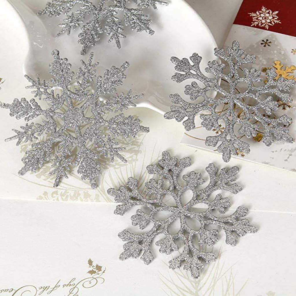 YueLove Flocon de Neige Decoration Scintillantes D/écorations de No/ël Flocon de Neige Scintillantes Christmas Concepts Lot de 10 /à 10cm de d/écorations /à Suspendre pour Flocon de Neige