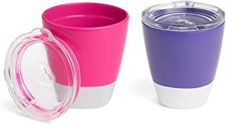 Munchkin Splash, 2 Cups & Trainer Lids, Pink & Purple