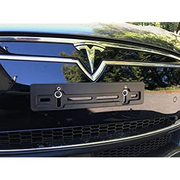 Removable Front License Plate Bracket fits 2016-2017 Tesla Model S with Facelift