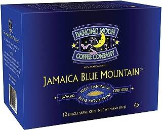 Dancing Moon 100% Board Certified Genuine Jamaica Blue Mountain K-Cups for Keurig Brewers (100% Jamaica Blue Mountain, 12 CT Box)