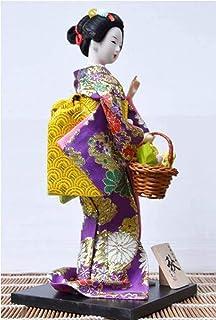 FTFTO Statue di Attrezzature viventi Scultura da Tavolo Artigianato per la Decorazione della casa Sculture di Geisha Giapp...