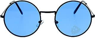 SA106 Retro Vintage Flat Color Circle Round Lens Sunglasses
