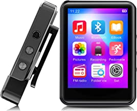 $46 » MP3 Player,32GB MP3 Player with Bluetooth 5.0,Portable Music Player with FM Radio/Recorder,HiFi Lossless Sound Quality,2.4...