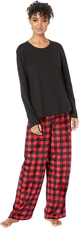 Buffalo Plaid Family Long Sleeve Pullover Pj Set
