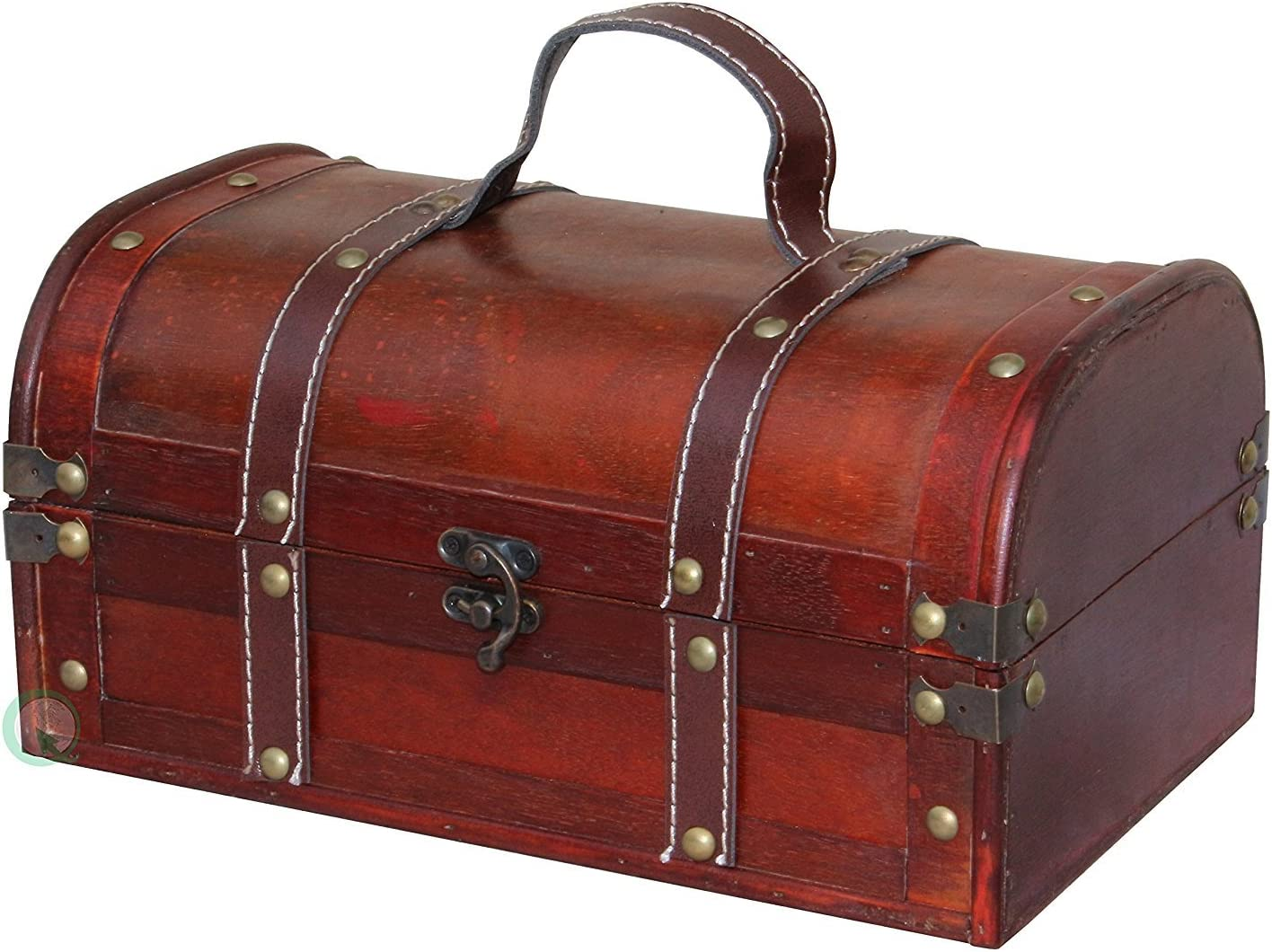 Vintiquewise TM security Decorative Wood Treasure Ches - store Wooden Trunk Box