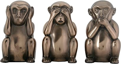 YTC 3 Inch Hear, See, and Speak No Evil Monkeys Statues, Pack of Three