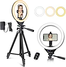 10'' LED Ring Light with Stand and Phone Holder, UBeesize Selfie Halo Light for Photography/Makeup/Vlogging/Live Streaming...
