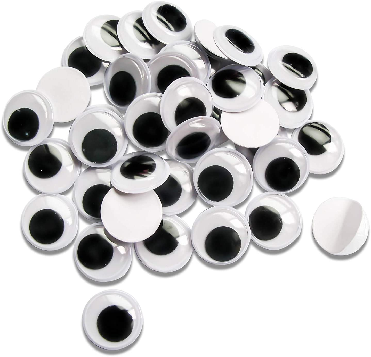 Ranking TOP8 TOAOB 200pcs 20mm Wiggle Googly Eyes Black Ro Adhesive Max 83% OFF Self with