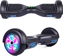 """YHR 6.5"""" Hoverboard LED Lights with Bluetooth Speaker and Smart Self Balancing Hoverboard and Two-Flashing Wheel with UL22..."""