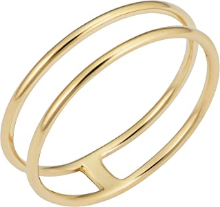 KoolJewelry 14k Yellow Gold 5.25mm Double Ring