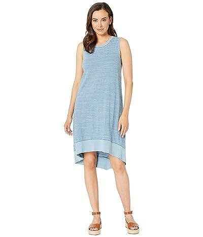 Dylan by True Grit Indigo Mini Stripe High-Low A-Line Sleeveless Dress (Washed Denim) Women