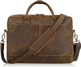 Jack&Chris New Genuine Leather Briefcase Messenger Bag 14