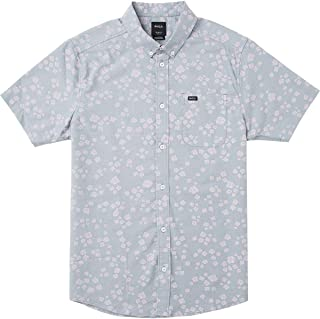 RVCA Men's Thatll Do Print Short Sleeve Woven Button Front Shirt