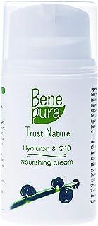 BenePura Hyaluron & Q10 Gesichtscreme 50 ml - Nährende Creme für reife Haut - Hydrate und reduziert Pigmentflecken - Keine Tierversuche, Frei von Parabenen, Gluten-frei, Vegan, Handgefertigt in der EU