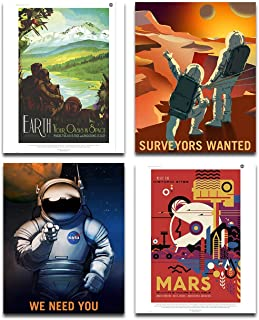 NASA Jet Propulsion lab Posters Art Prints - Set of Four Photos (8x10) Unframed - Great Gift for Space Exploration Enthusiasts