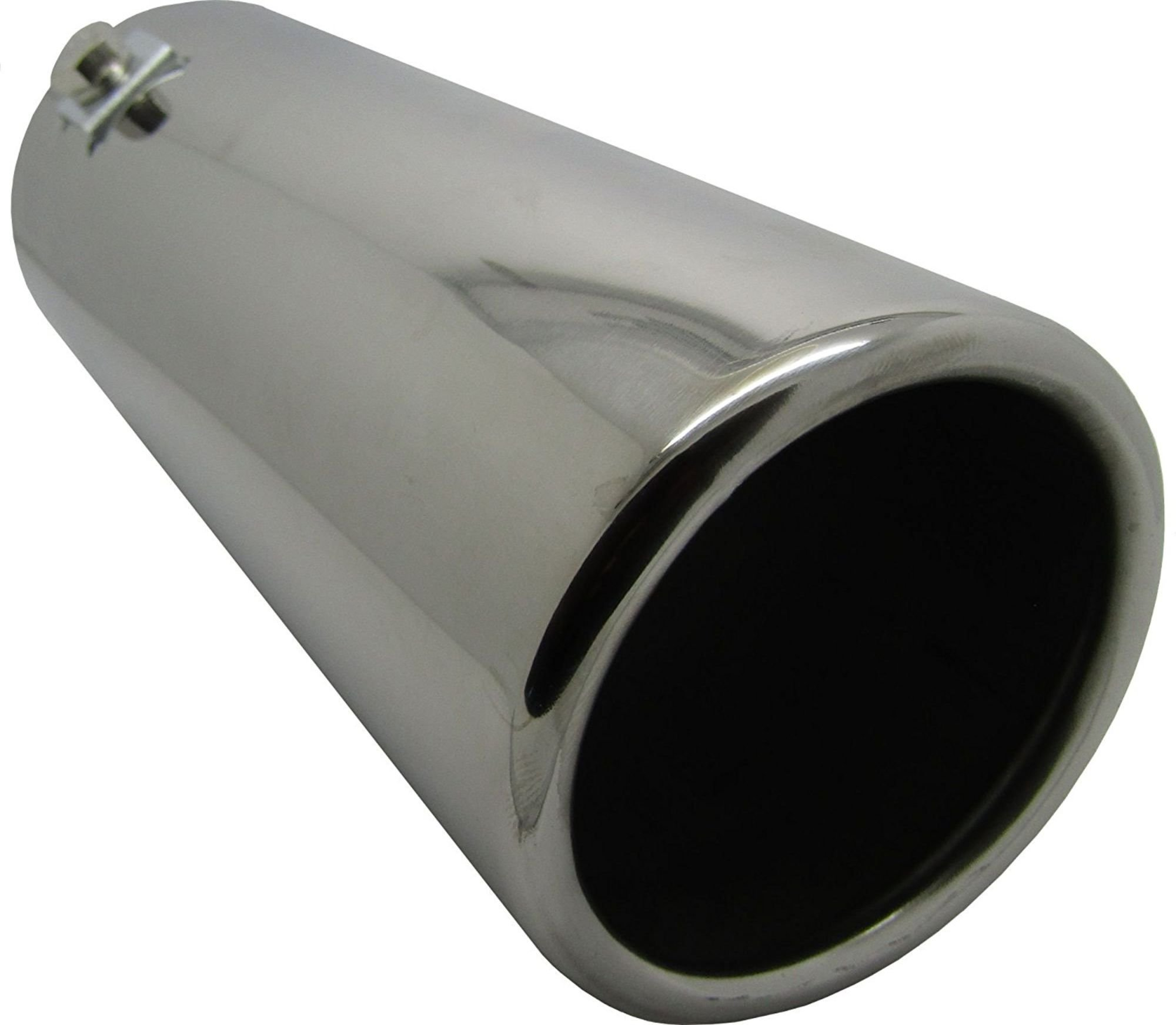 WLW/® 155mm Stainless Steel Oval Round Straight Exhaust Tail Pipe Bumper End Tip Fits 51-55mm WLW1-RB79