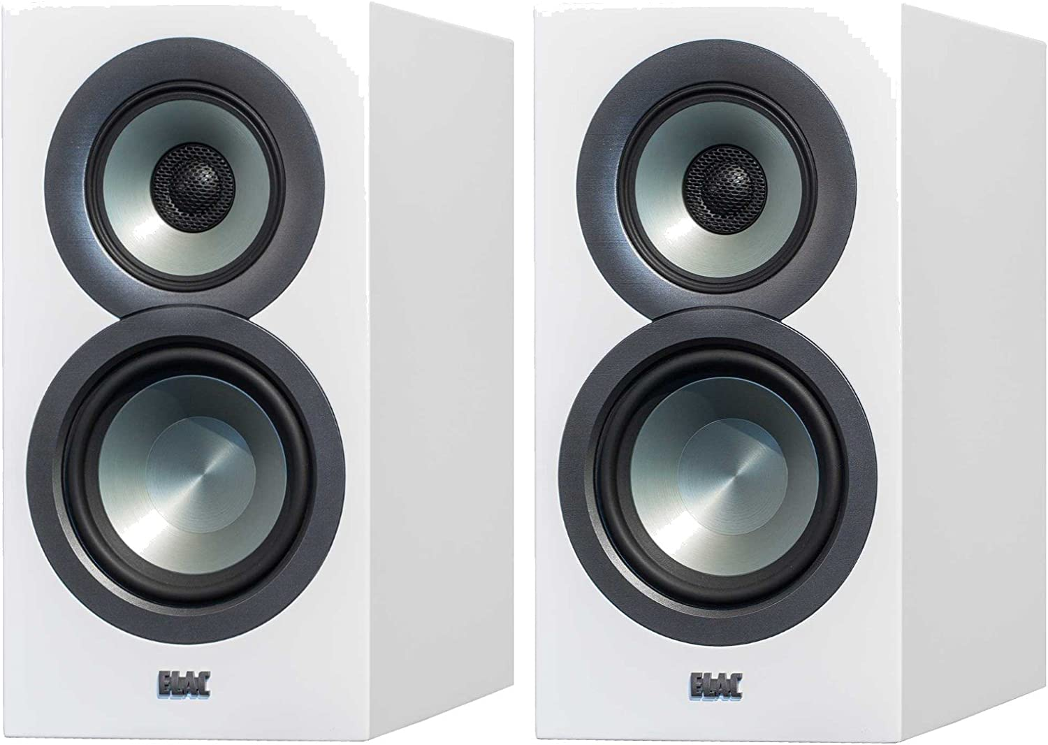 Elac Uni-FI UB9 Slim Bookshelf Speaker (Finshed Satin White Cabinet, Pair)