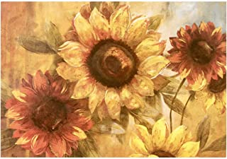 Morgan Home / Blissful Living Set of 4 Placemats, Sunflower Painting