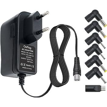 Outtag 12W Caricabatterie portatile universale 3-12V 1A Alimentatore Per Bluetooth Router CCTV Fotocamera USB Hub IP Fotocamera LED Lamps Telefono Portatile Tablet Pc,con 8 Spine CC.