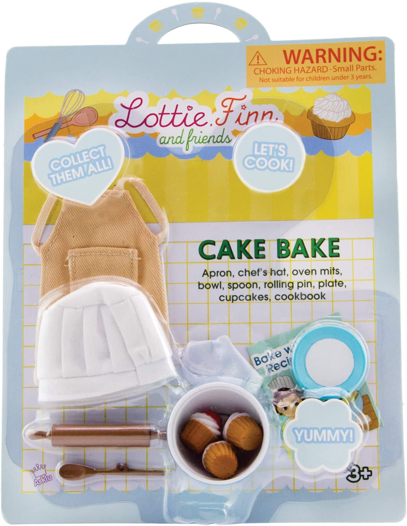 Lottie Cake Bake Doll Accessories | Chef Doll Accessories | Doll Apron | Doll Baking Set | Doll Cooking Accessories | Doll Kitchen Accessories | Cupcake Doll Accessories | Baker Doll | Cook Doll