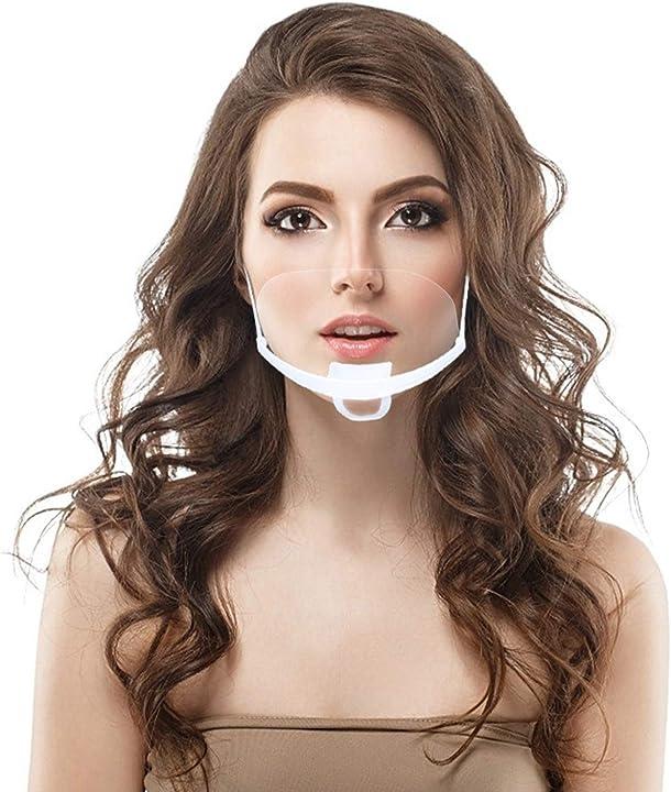 Mascherina trasparente 10 pezzi anti-oil splash bocca visiera antisputo e anti spruzzo - covid mask PV-3