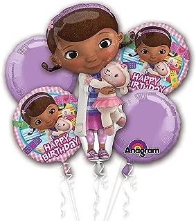Disney Doc Mcstuffin Balloon Birthday Party Favor Supplies 5ct Foil Balloon Bouquet
