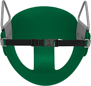American Swing Green Toddler Half Bucket Swing Seat Residential - with Nylon Safety Strap