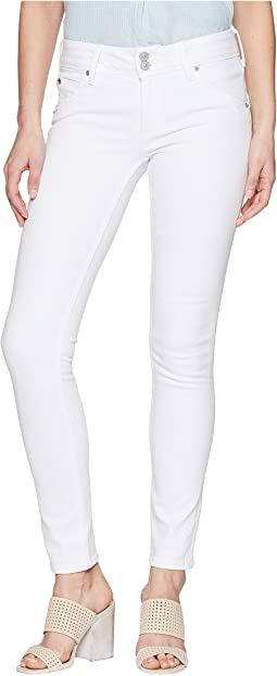 Hudson Collin Mid-Rise Skinny in Optical White