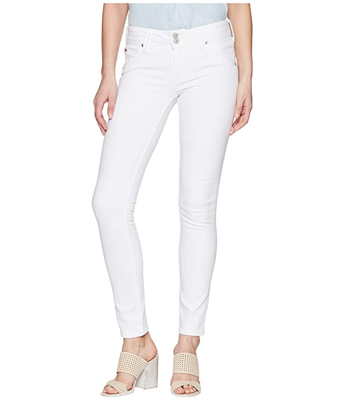 19d6c1314e8 Hudson Jeans Collin Mid-Rise Skinny in Optical White at Zappos.com
