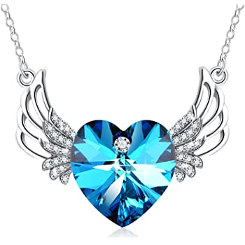 TTjewelry 925 Sterling Silver Beautiful Heart Crysal Necklace Eternal Blessed Braveheart Pendant Necklace
