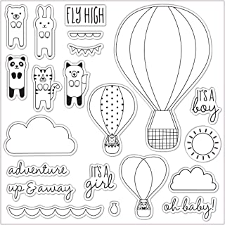 Fiskars Lia Griffith 8x8 Inch Clear Stamps, Oh Baby