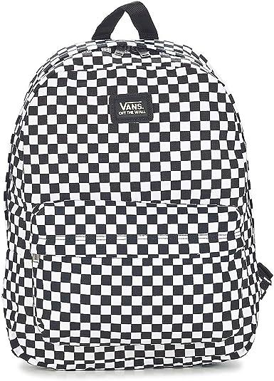 Vans SS20 Sac À Dos Old Skool III OS Black-White Check : Amazon.fr ...