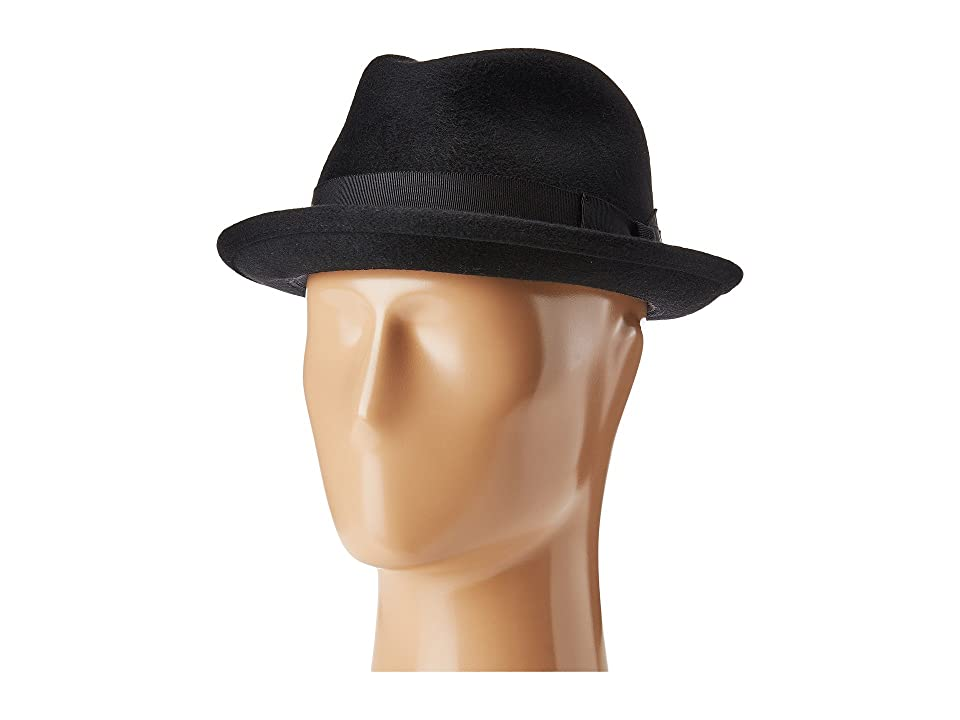 1960s – 70s Style Men's Hats Bailey of Hollywood Riff Black Caps $120.00 AT vintagedancer.com
