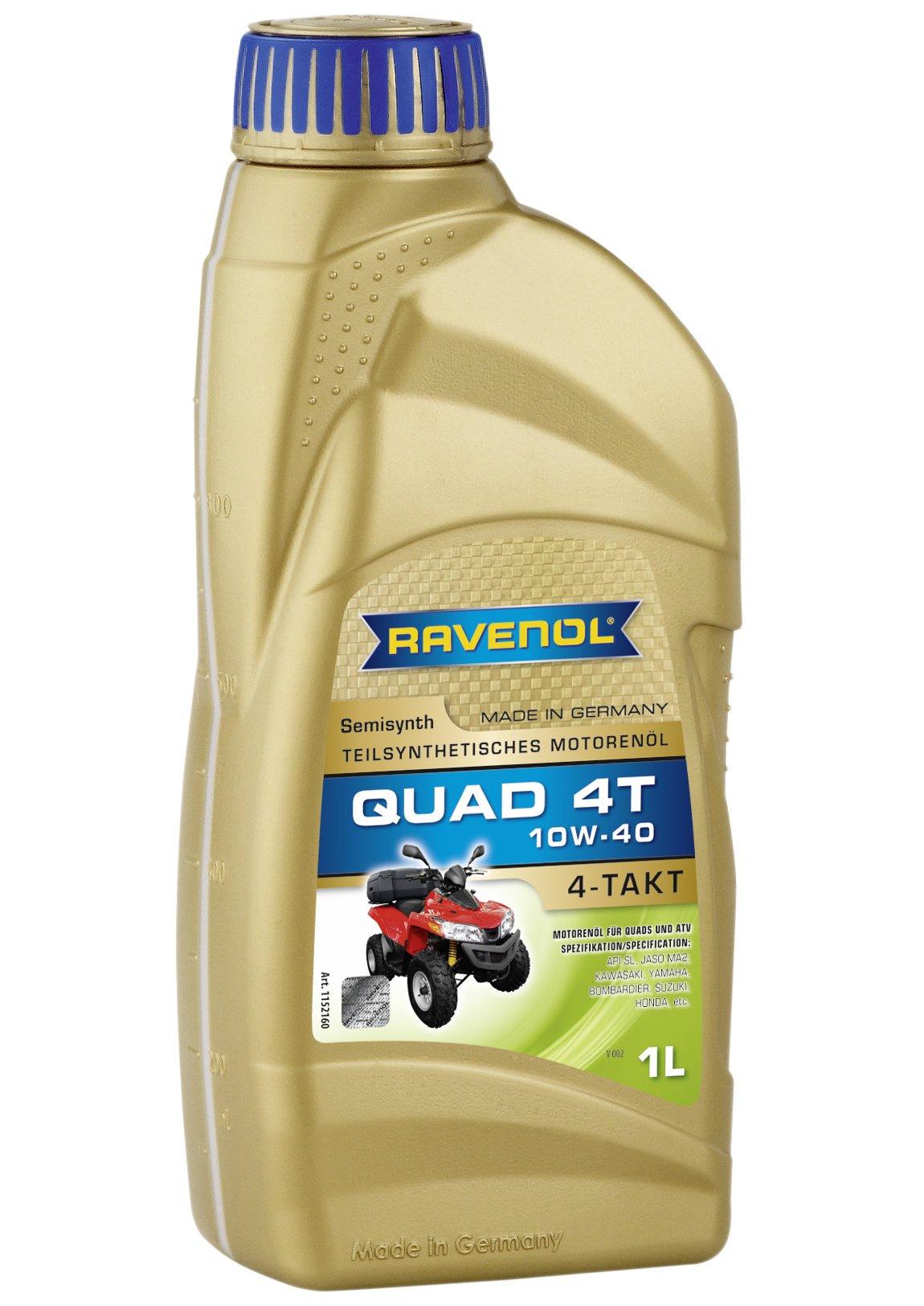 RAVENOL J1V1401 SAE 10W-40 - Aceite de 4 tiempos para quad ATV - 4 - semisintético API SL: Amazon.es: Coche y moto
