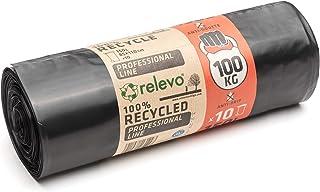 Sacs Poubelles Résistants Relevo, Sacs Poubelles Durables avec Résistance jusqu'à 100 kg, Sacs en Plastique 100% Recyclés,...