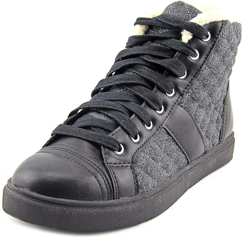 Madden Girl Everestt Women Round Toe Canvas Sneakers, Black, Size 7.5