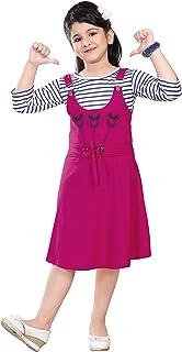 Trend Fashion Girl's Knee Length Dungaree Dress