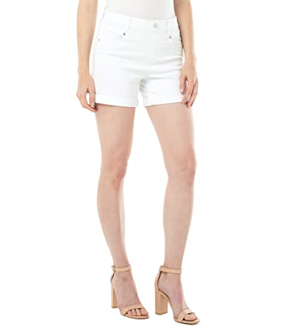 Liverpool Gia Glider Rolled Shorts (Bright White) Women