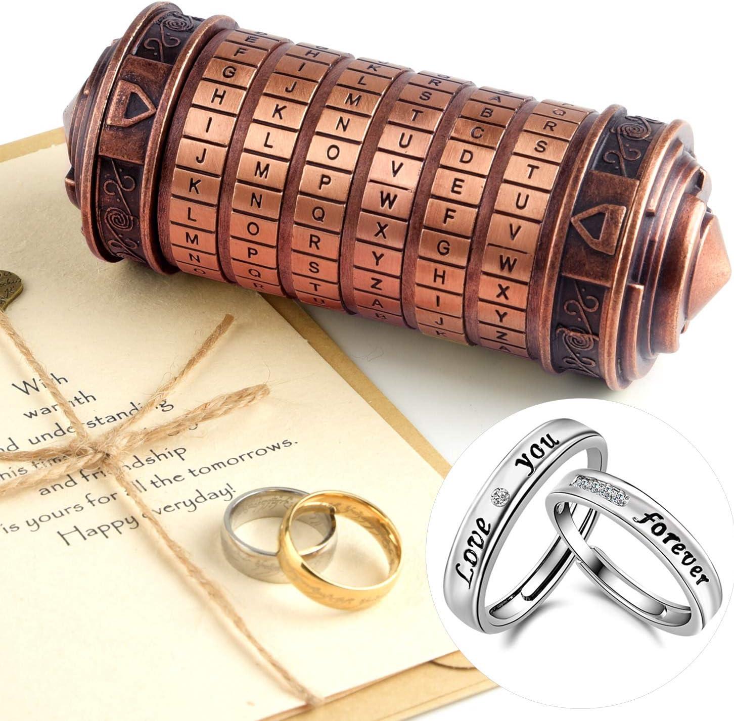 TUPARKA 5Pcs Da In a popularity Vinci Code Cryptex Boxes Valentine's Popular popular Puzzle Mini