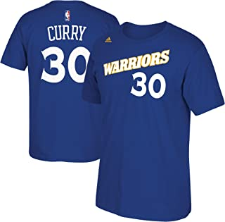 adidas Stephen Curry Golden State Warriors Blue Alternate Retro Jersey Name and Number T-Shirt