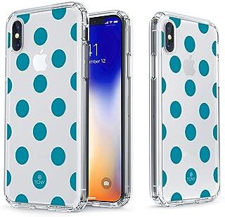 真正的彩色手机壳适用于 iPhone X 波点系列 Teal Polka Dot
